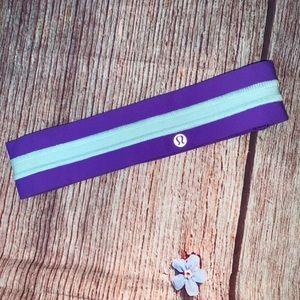 Lululemon Purple and Light Aqua Headband Hairband